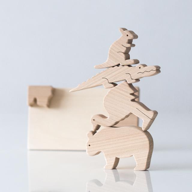 くまさんセットで積み木遊び