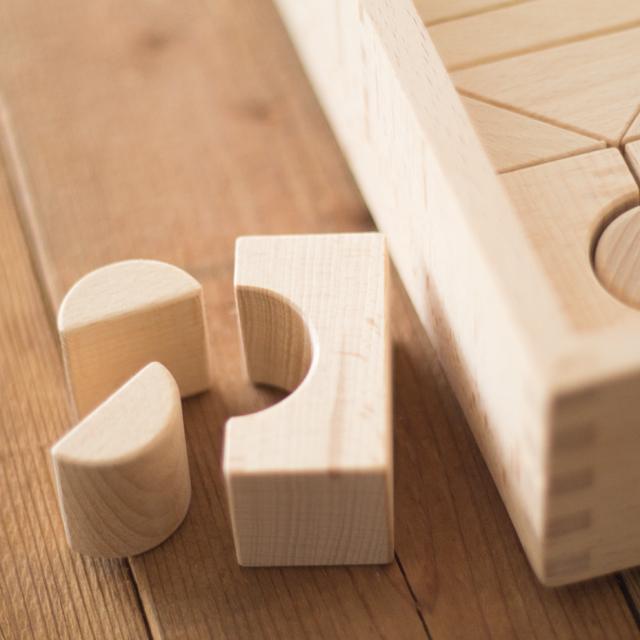 積み木パーツ半円形型