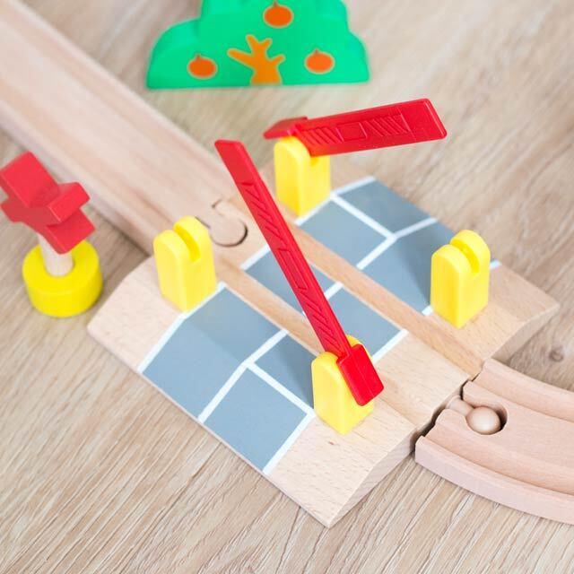 木製踏切レール