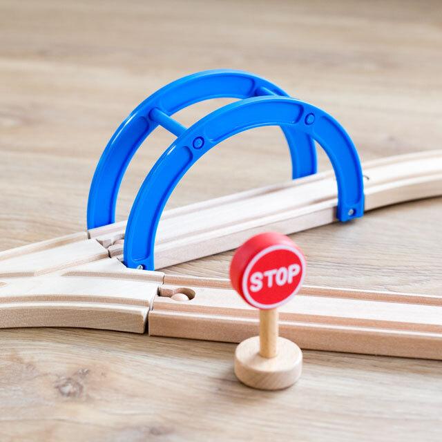 木製アーチ橋付きレール