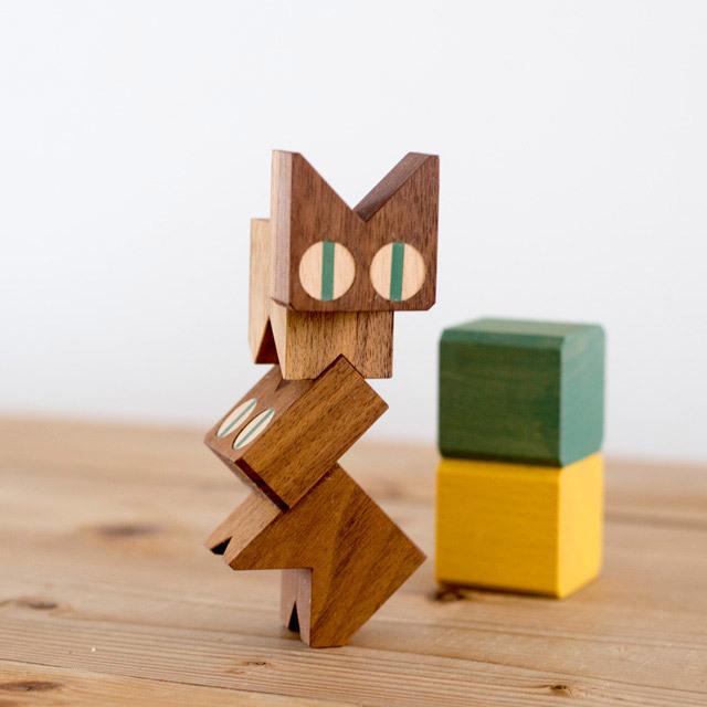 ネコブロック ウォルナット 木製