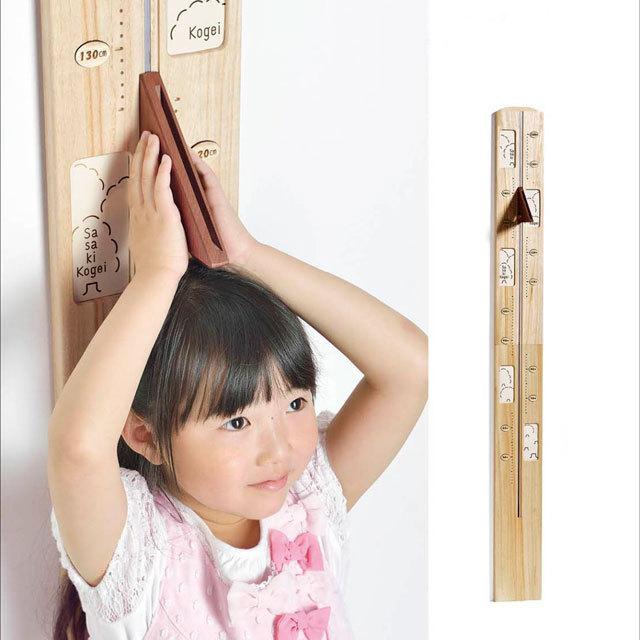 木製身長計メイン