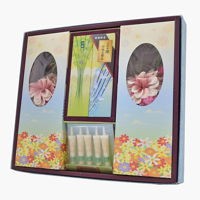 お盆、お彼岸に最適な線香と仏花セット