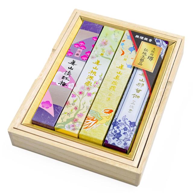 お線香 真山 香木と花4種目(梅・桃・真・那)各1箱