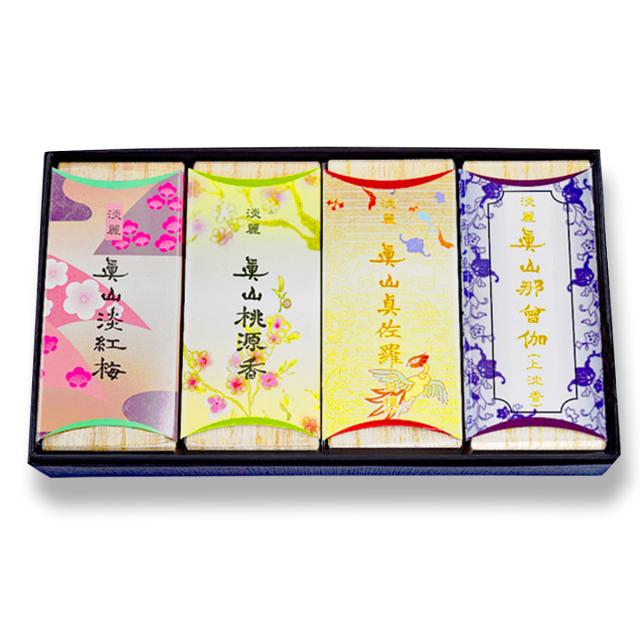 短寸線香 4種セット(梅・桃・真佐羅・那曾伽)