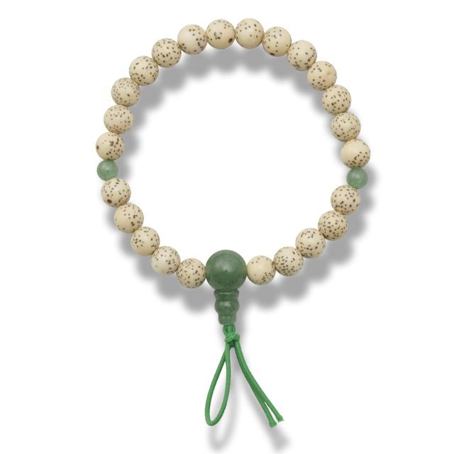 星月菩提樹 印度翡翠 腕輪念珠