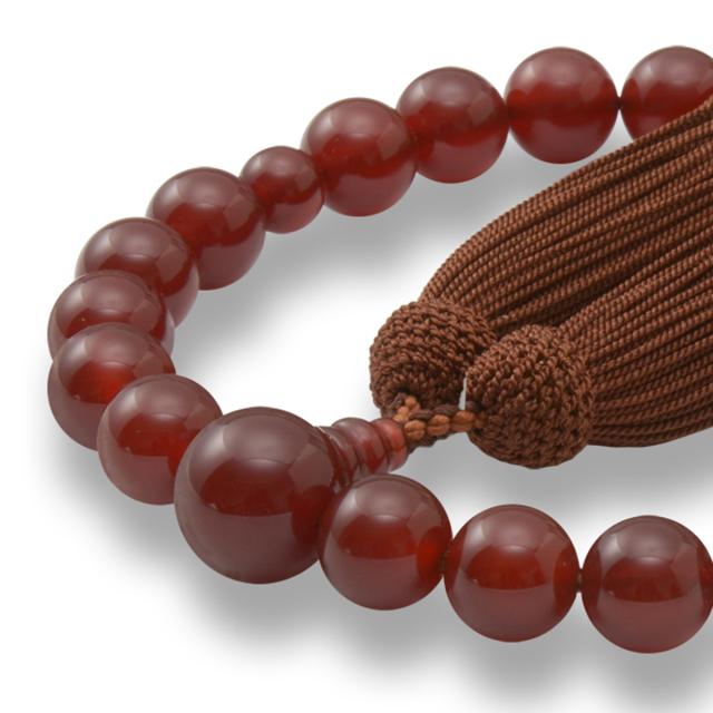 男性用 片手数珠 本瑪瑙22玉 共仕立 正松房 日本製