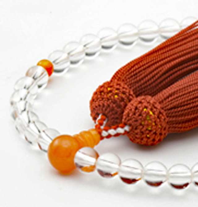 数珠 女性用 天然水晶 ピンクアベン 正松房 山念 国産 天然素材