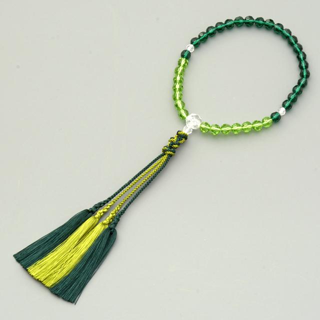 女性用数珠 ボヘミアン緑
