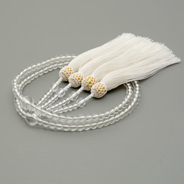 八宗用二輪数珠 天然水晶 共仕立