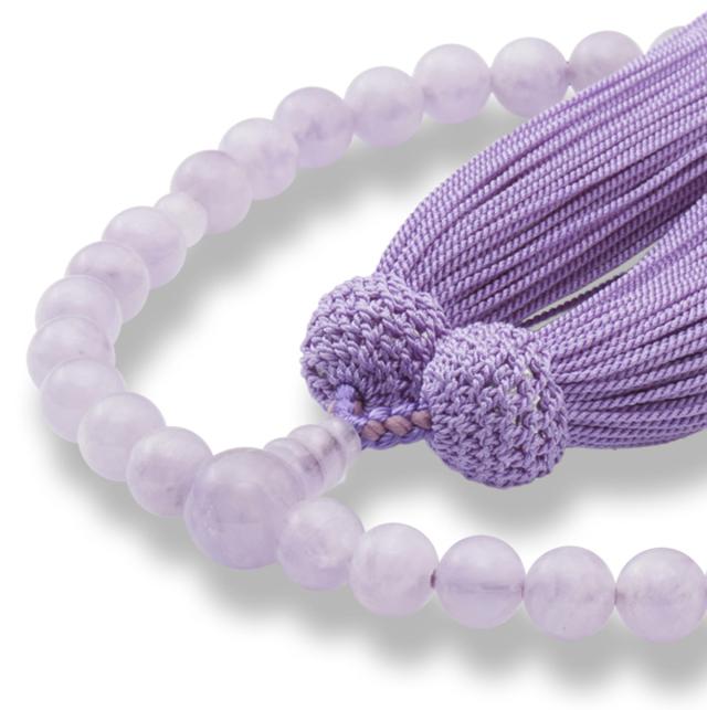 女性用片手数珠 ラベンダーアメジスト 共仕立 正松房