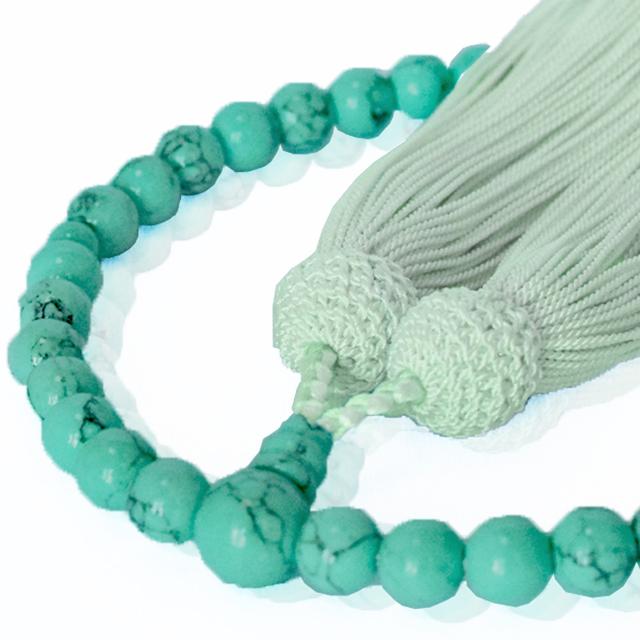 女性用数珠 トルコ石 共仕立 正松房 セカンド