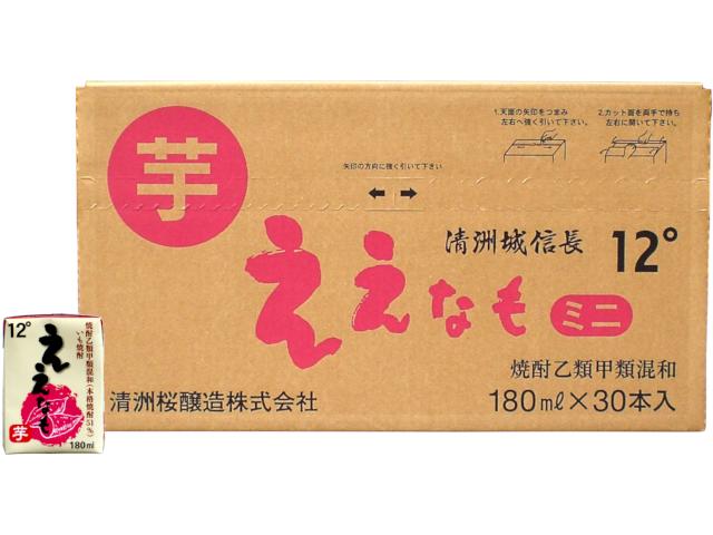 清洲城信長焼酎 芋焼酎 ええなもミニパック 180ml(ケース)