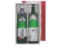 【贈答用(KE-85)】 超特撰大吟醸 「楽園」 1.8L瓶 1本 & 特撰吟醸 「鬼ころし」 1.8L瓶 1本 2本セット(箱入り)