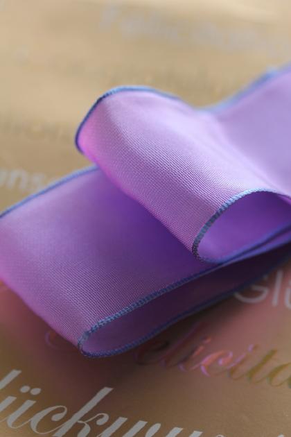 フランス製ワイヤーリボン・スタンダード Cobalt violet light 40ミリ幅
