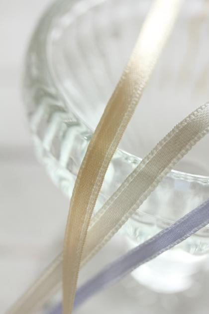 イタリア製サテンリボン 6ミリ幅 3color
