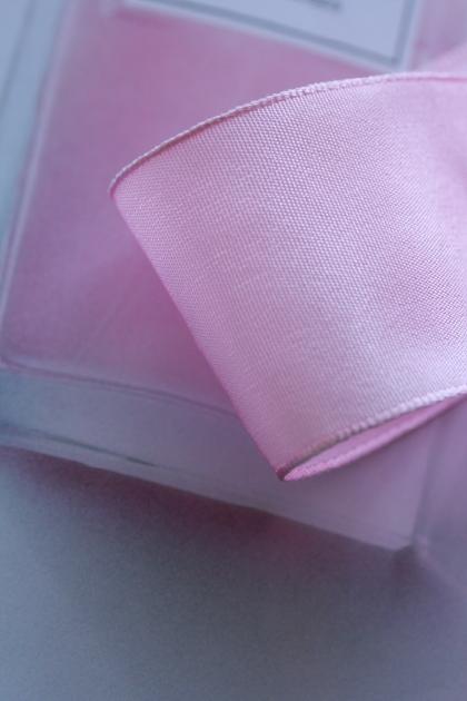 フランス製ワイヤーリボン・スタンダード Pastel Pink 40ミリ幅
