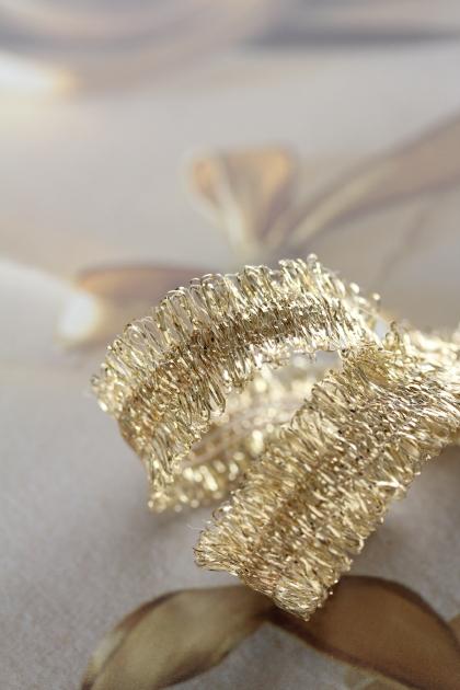 フランス製スペシャルリボン・Decoration ゴールド  15ミリ幅