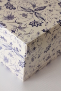 イタリア製ギフトボックス・Blue Flowers