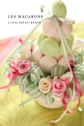 "2013.03.16(sat)フレンチリボンInteriorクラフト名古屋プランタンレッスン""Candle Decoration""Roses & Macarons"""