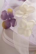 """ドイツリボン・Sheer Ribbon""""Flowers"""" 38ミリ幅"""