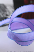フランス製ワイヤーリボン・スタンダード Cobalt violet light 15ミリ幅