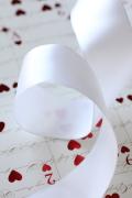 フランス製ワイヤーリボン・ダブルサテン*ホワイト* 40ミリ幅