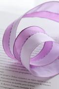 ドイツリボン  Lavender Dark Light 40ミリ幅