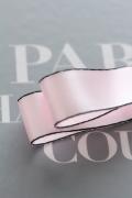 """フランス製リボン・Satin""""STYLISH"""" Pink  20ミリ幅"""