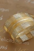 フランス製ワイヤーリボン  シースルーゴールド 40ミリ幅