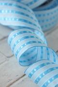 ドイツリボン  Blue stripes and Dots 40ミリ幅