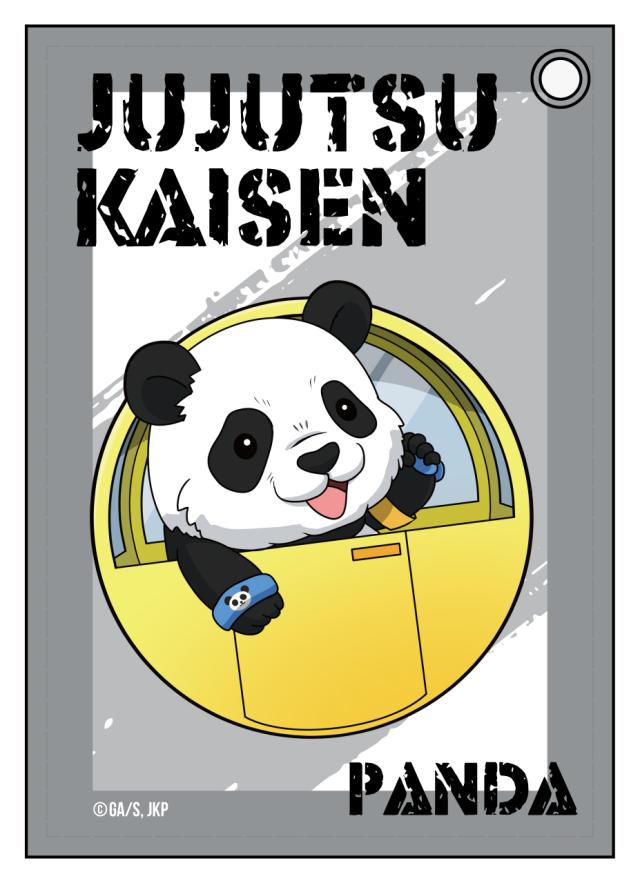 【2021年7月下旬発売予定】TVアニメ「呪術廻戦」 合皮パスケース パンダ 遊園地デフォルメ ver.