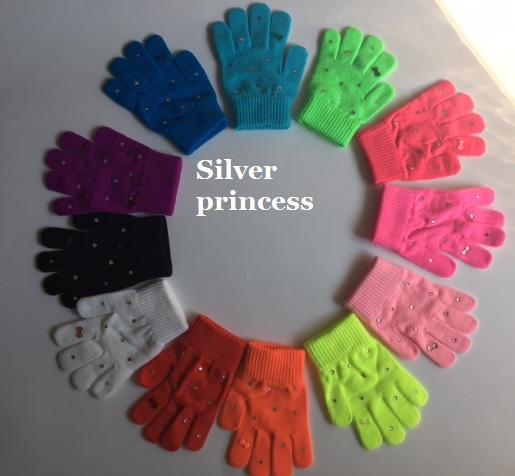 新作入荷*入荷品やタイツ等と一緒にすぐ発送★数量限定品★日本製★おりぼん&スワロ♪Silver princessオリジナル手袋★