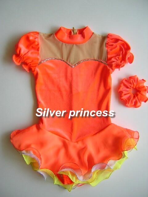 いつでも御注文可★Silver Princessオリジナル★スワロが光る♪Dreamer★フィギュアスケートコスチューム★子供各サイズ