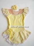 いつでも御注文★Silver princess限定販売★フローラルプリンセス★フィギュアスケートコスチューム★TNPS2★黄色★各サイズ