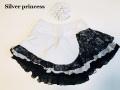 入荷即納★128番★ホワイト★Silver princessオリジナル限定販売♪★スケートスカート★子供XS*120cm