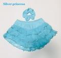 即納★★131番★ブルー★Silver princessオリジナル限定販売♪3段フリル★スケートスカート★子供S*125-130cm