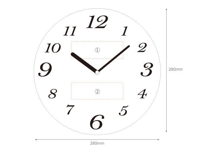 木製壁掛け時計スペック