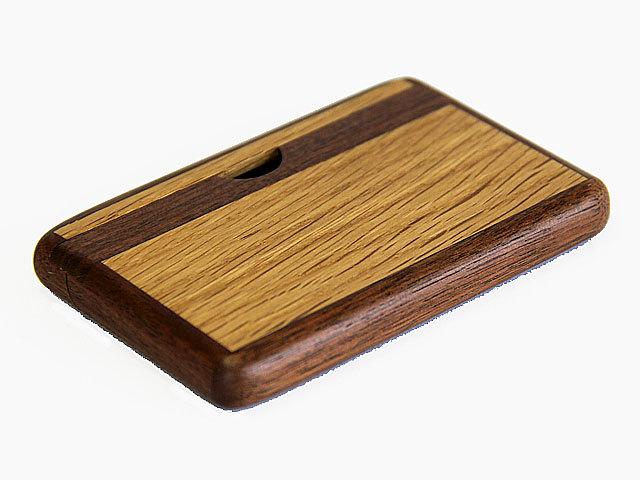 木製カードケース ツートン