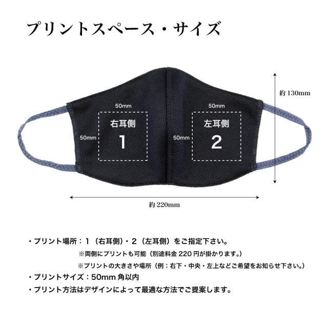 アフターコロナ対策オリジナルプリント名入れマスク