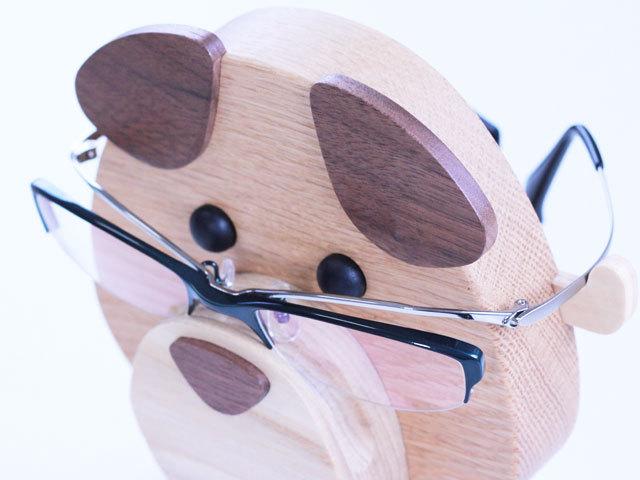 木製メガネスタンド イヌ型
