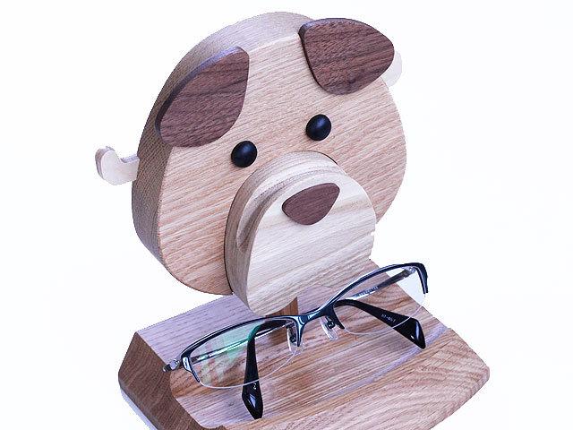 木製スタンド イヌ型