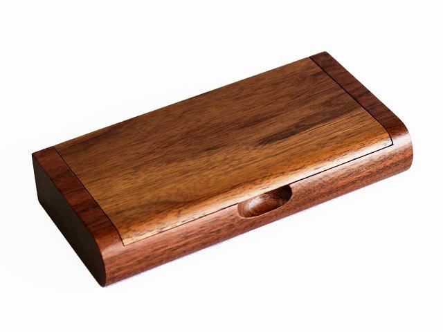 木製一枚フタ印鑑ケース ウォルナット