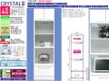 【3段家電収納】「クリスタル3」50トリプルハイレンジ 幅49.5cm、高さ180cm、国内環境安全基準F☆☆☆素材を使用、ピカピカのホワイト色エナメル塗装表面材・天井モイス仕様の3段家電収納ボードです。