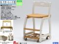 【ヒカリサンデスク】「G-スカーレット3」板座学習チェア 2色、スカーレット学習机対応の座高4段階調節、厚い木部、綺麗な塗装、360度回転双輪キャスター付でお子さんに安心安全な木製回転学習椅子です。