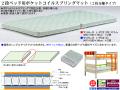 【二段ベッド用マットレス】「マットレス」L-PC2(SS) W80cm幅(SS)・W97cm幅(S)の2つの幅、L99cm×2枚の2分割、耐圧分散に優れたポケットコイルスプリング内臓マットレスです。