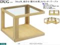 【シャープな組合せテーブル】「タグ」スクエアテーブル 国内環境安全基準F☆☆☆素材仕様、ホワイトオーク材・ウレタン塗装の組合せを楽しむ50cm角ガラステーブルです。他に、ウォールナット材もあります。