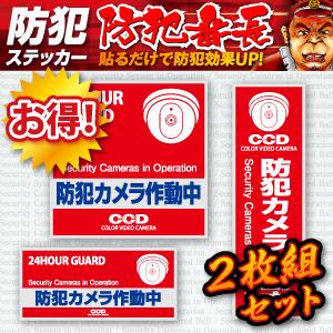 セキュリティステッカー  防犯カメラ作動中 (OS-181) 2枚組セット