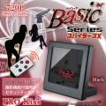 置時計 置時計型 マルチスパイカメラ スパイダーズX Basic (Bb-641B) ブラック 720P 動体検知 外部電源
