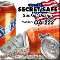 防犯 スパイグッズ 隠し金庫 飲料缶型 収納 セーフティボックス 『SECRET SAFE シークレットセーフ』(OA-223) Sunkist